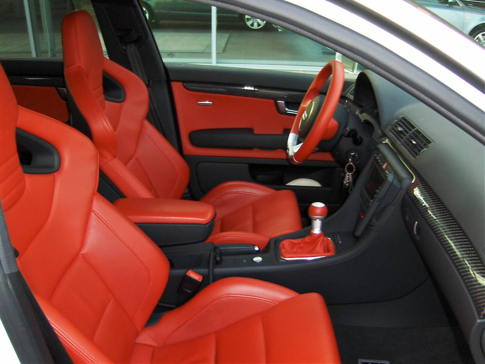 Audi Exclusive Rs4 Red Interior